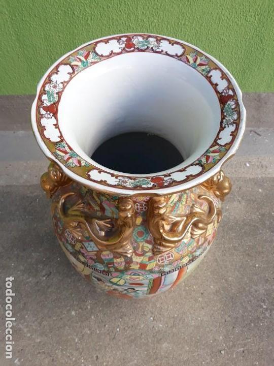 Antigüedades: Grande Jarrón Chino-Med Siglo XX - Foto 5 - 163971318