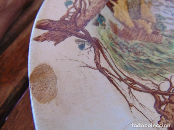 Antigüedades: ANTIGUA BANDEJA EN CERAMICA VENTA DE GUADAIRA M .VEGA LA CARTUJA ?? - Foto 2 - 163972774