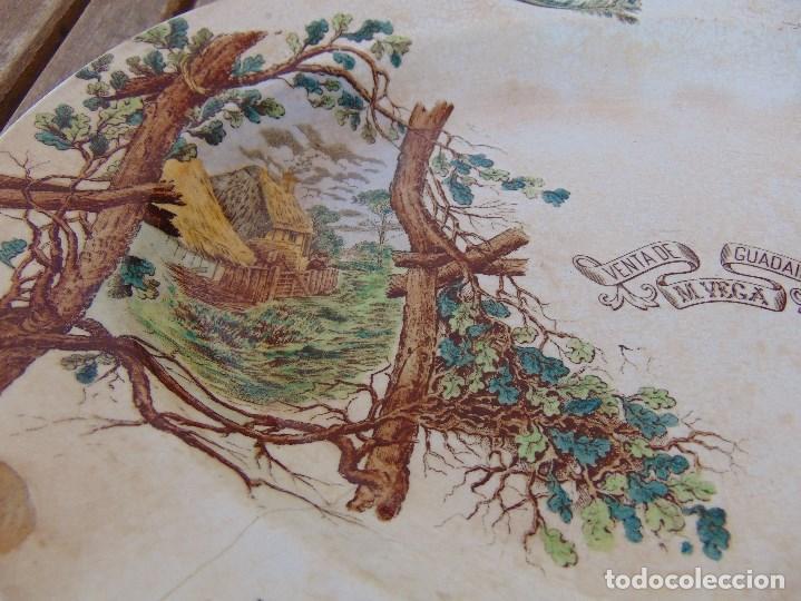 Antigüedades: ANTIGUA BANDEJA EN CERAMICA VENTA DE GUADAIRA M .VEGA LA CARTUJA ?? - Foto 3 - 163972774