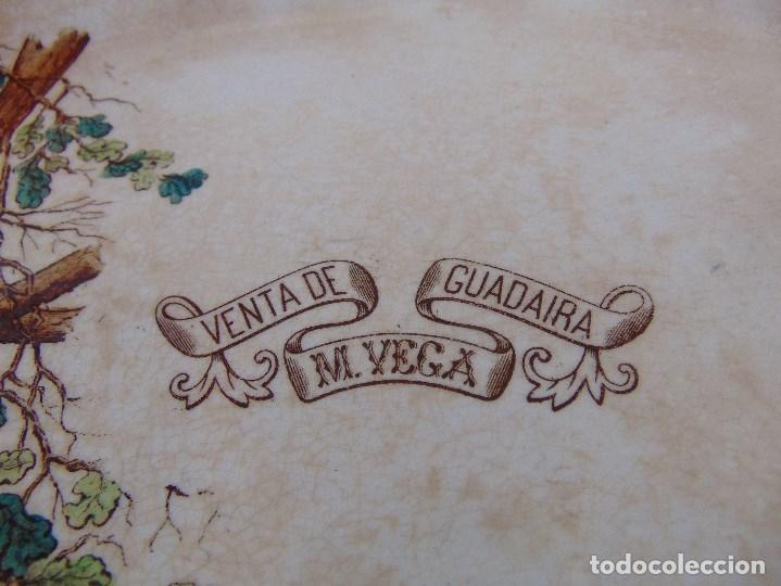 Antigüedades: ANTIGUA BANDEJA EN CERAMICA VENTA DE GUADAIRA M .VEGA LA CARTUJA ?? - Foto 4 - 163972774