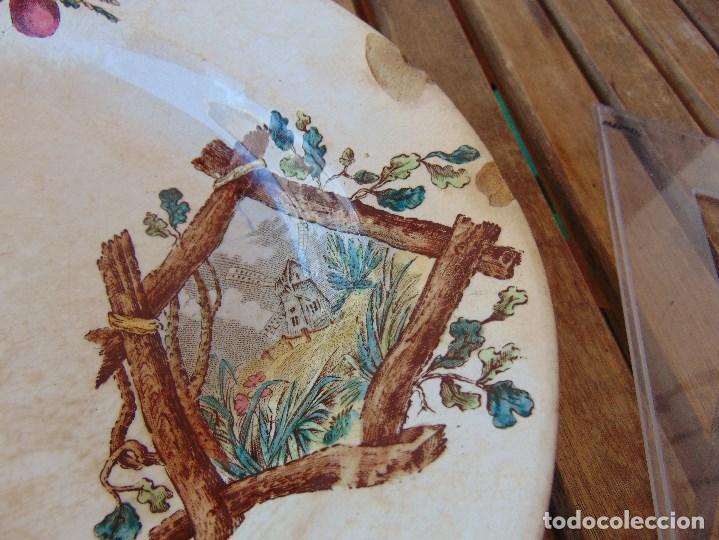 Antigüedades: ANTIGUA BANDEJA EN CERAMICA VENTA DE GUADAIRA M .VEGA LA CARTUJA ?? - Foto 5 - 163972774