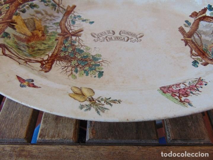 Antigüedades: ANTIGUA BANDEJA EN CERAMICA VENTA DE GUADAIRA M .VEGA LA CARTUJA ?? - Foto 9 - 163972774