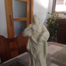 Antigüedades: FIGURA DE CERAMICA DE ALCORA REPRESENTANDO A LUCRECIA . Lote 163975270