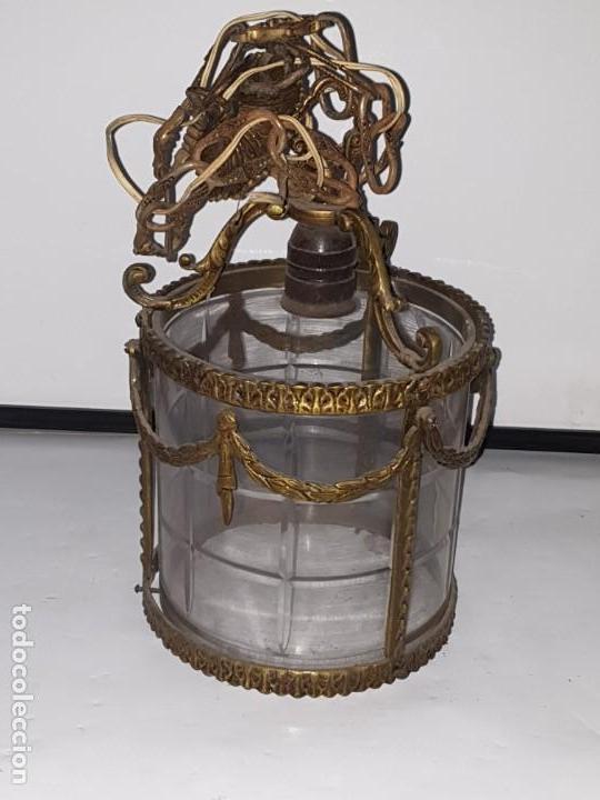 FAROL METAL (Antigüedades - Iluminación - Faroles Antiguos)