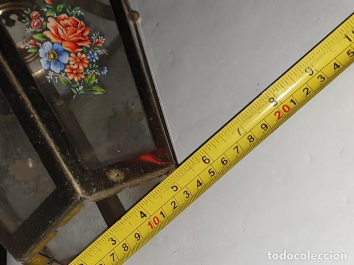 Antigüedades: FAROL CRISTAL METAL - Foto 10 - 163979946