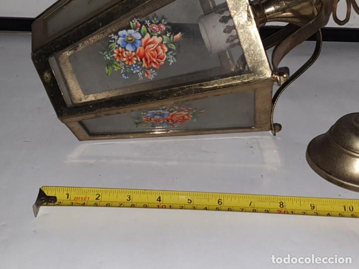 Antigüedades: FAROL CRISTAL METAL - Foto 11 - 163979946