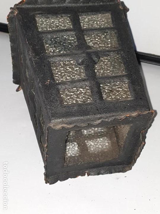 Antigüedades: FAROL FORJA ANTIGUO - Foto 5 - 163980238