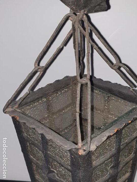 Antigüedades: FAROL FORJA ANTIGUO - Foto 4 - 163980238