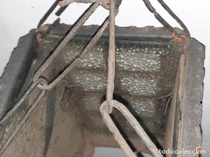 Antigüedades: FAROL FORJA ANTIGUO - Foto 6 - 163980238