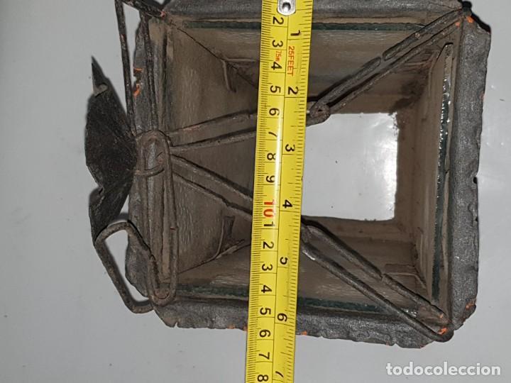 Antigüedades: FAROL FORJA ANTIGUO - Foto 7 - 163980238