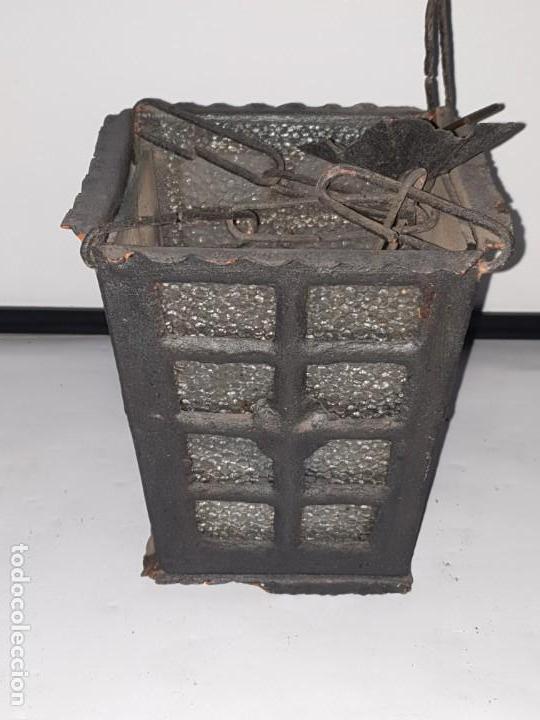 Antigüedades: FAROL FORJA ANTIGUO - Foto 2 - 163980238