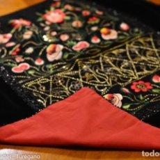 Antigüedades - Delantal o mandil de indumentaria tradicional - Traje regional, bordado, azabaches, agremanes - 163999614