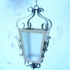 Antiquitäten - ANTIGUO FAROL METAL Y CRISTAL - 164002102