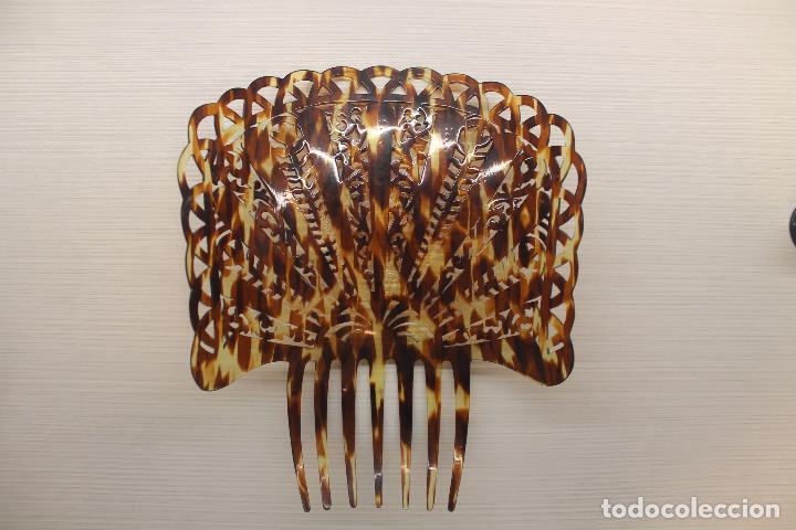 Antigüedades: PEINETA SÍMIL CAREY, LEER DESCRIPCIÓN - Foto 9 - 164087570