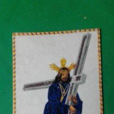 Antigüedades: AZULEJO CON IMAGEN NAZARENO DE CÁDIZ, CON SU ESTUCHE ORIGINAL, BUEN ESTADO. Lote 164093846