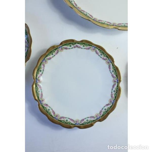 Antigüedades: Antiguo juego de porcelana francesa - Foto 2 - 164144402