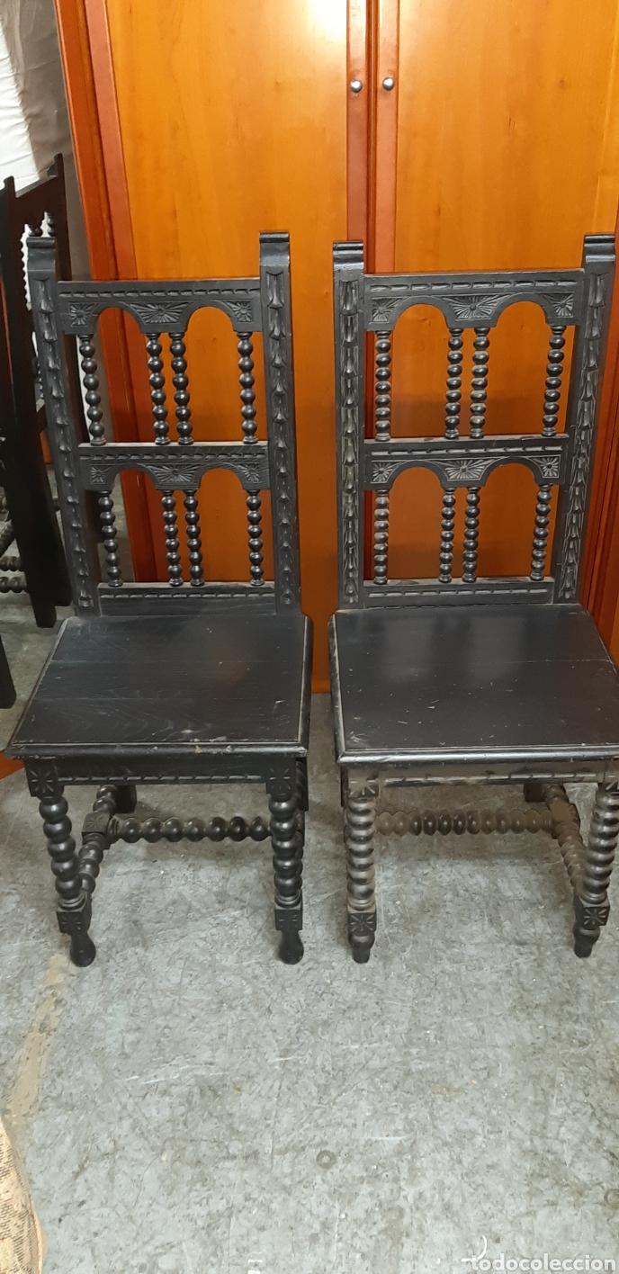 PAREJA SILLAS (Antigüedades - Muebles Antiguos - Sillas Antiguas)