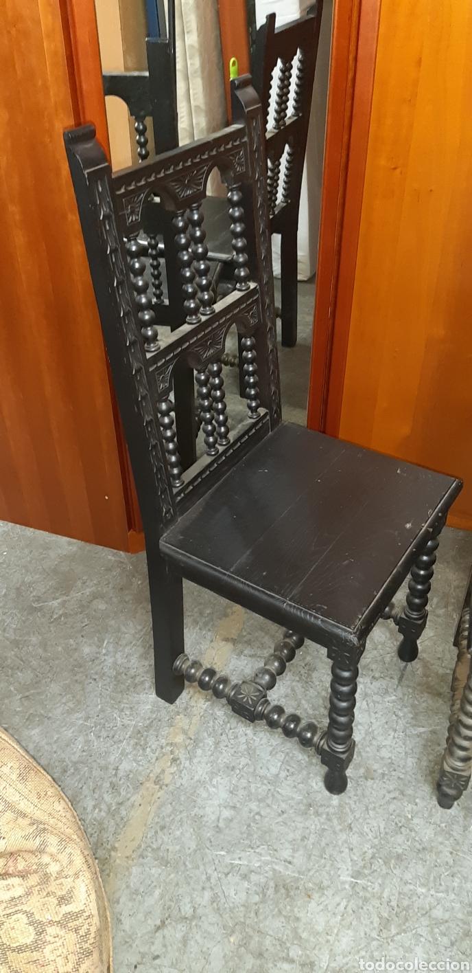 Antigüedades: PAREJA sillas - Foto 2 - 164167024