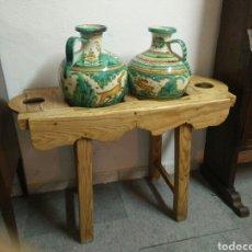 Antigüedades: CANTARERA ANTIGUA DE PINO. Lote 164171296