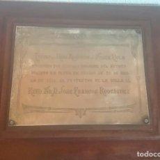 Antigüedades: FRANCOS RODRÍGUEZ. PLACA DE PLATA. 1916. HIJO ADOPTIVO DE SANTA POLA. Lote 164183346