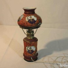 Antigüedades: LAMPARA PORCELANA JAPONESA. Lote 164190390
