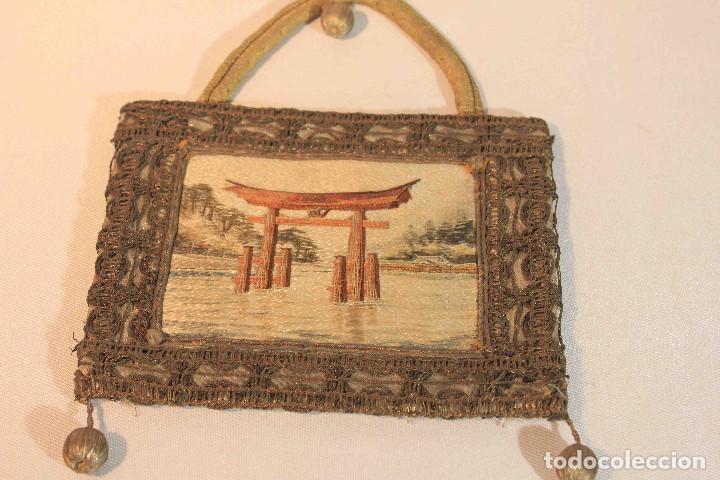 Antigüedades: CUADRO BORDADO JAPON - Foto 2 - 164191090