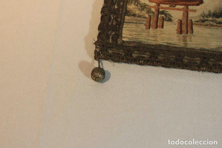Antigüedades: CUADRO BORDADO JAPON - Foto 3 - 164191090