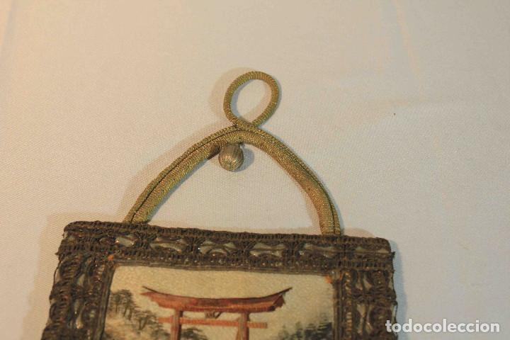 Antigüedades: CUADRO BORDADO JAPON - Foto 4 - 164191090