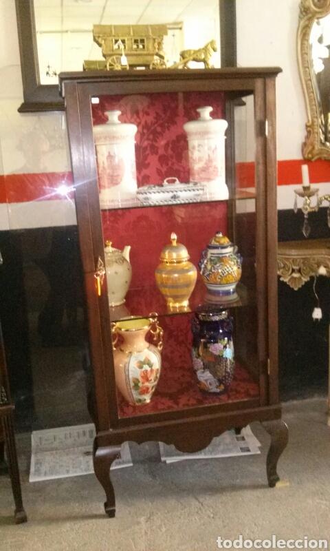 VITRINA MADERA CAOBA (Antigüedades - Muebles Antiguos - Vitrinas Antiguos)