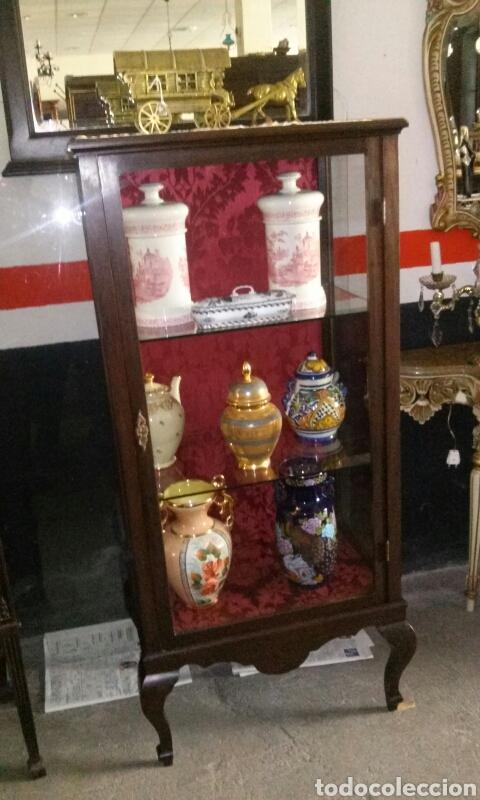 Antigüedades: Vitrina madera caoba - Foto 2 - 164194594
