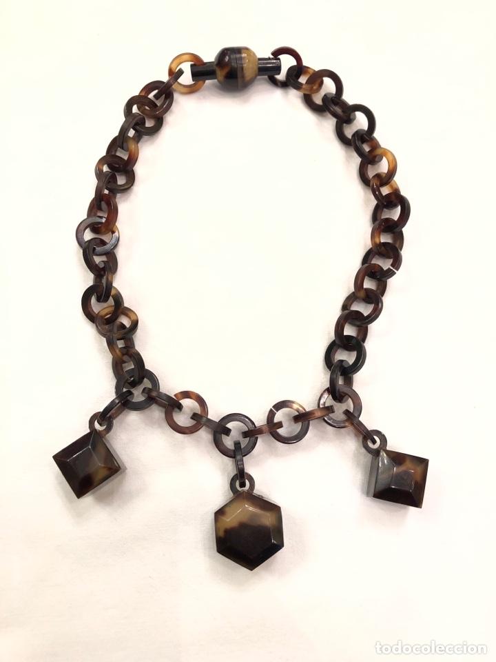 Antigüedades: Collar de imitación carey Art Deco - Foto 2 - 164199426