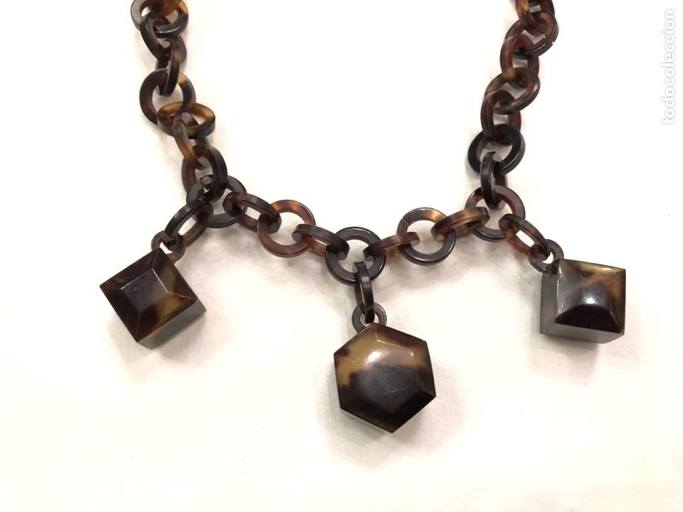 Antigüedades: Collar de imitación carey Art Deco - Foto 3 - 164199426