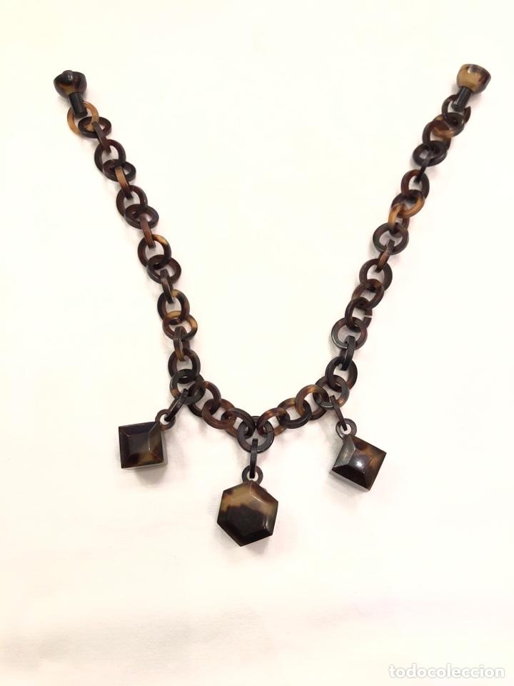 Antigüedades: Collar de imitación carey Art Deco - Foto 6 - 164199426