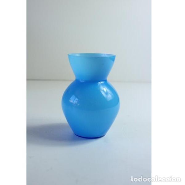 Antigüedades: Antiguo florero de cristal - Foto 2 - 164277754
