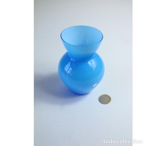 Antigüedades: Antiguo florero de cristal - Foto 5 - 164277754