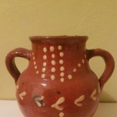 Antigüedades: ANTIGUA ORZA DE DOS ASAS. Lote 164282288