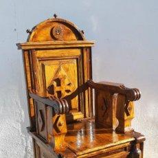 Antigüedades: SILLÓN CATEDRA. Lote 164409726