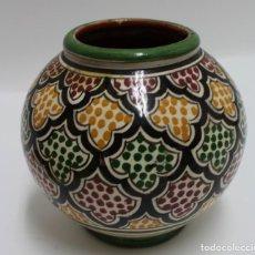 Antigüedades: CERAMICA ESMALATADA,PINTADA A MANO. FIRMADA SERGHINI, MARRUECOS. S.XX.. Lote 164467014