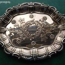Antigüedades: BANDEJA DE PLATA DE LEY CON CONTRASTES DURAN. Lote 164488470