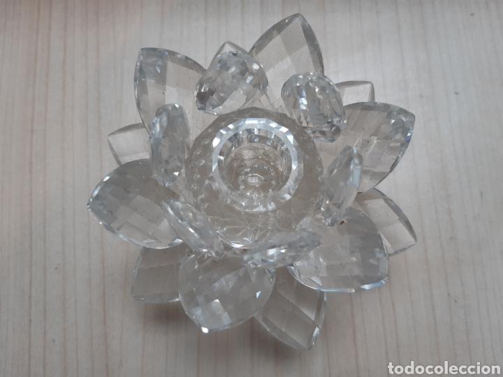 SWAROVSKI. ROSA PORTAVELAS. NUEVA (Antigüedades - Cristal y Vidrio - Swarovski)