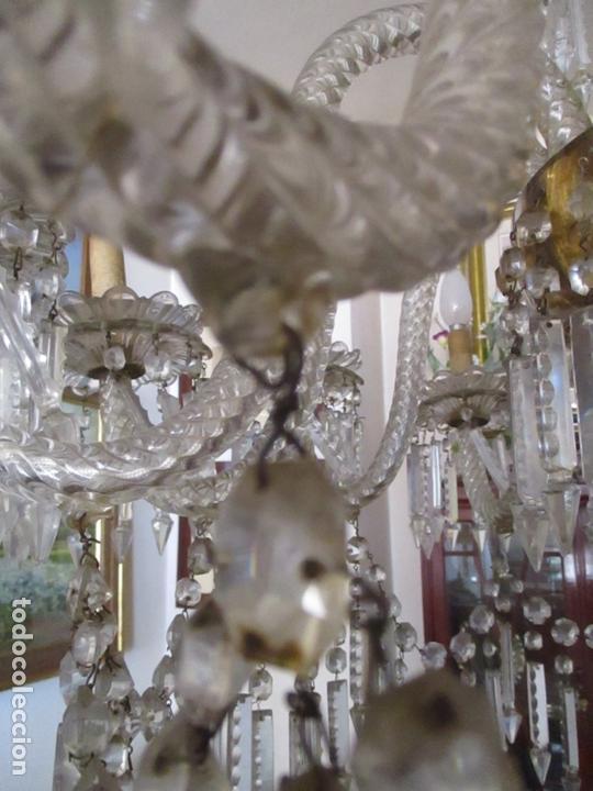 Antigüedades: Impresionante Lámpara de Techo - 8 Luces - Cristal - funciona - Ideal Comedor, Salón - Foto 12 - 164574450