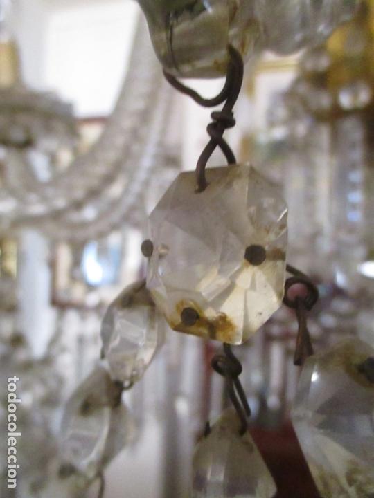 Antigüedades: Impresionante Lámpara de Techo - 8 Luces - Cristal - funciona - Ideal Comedor, Salón - Foto 13 - 164574450