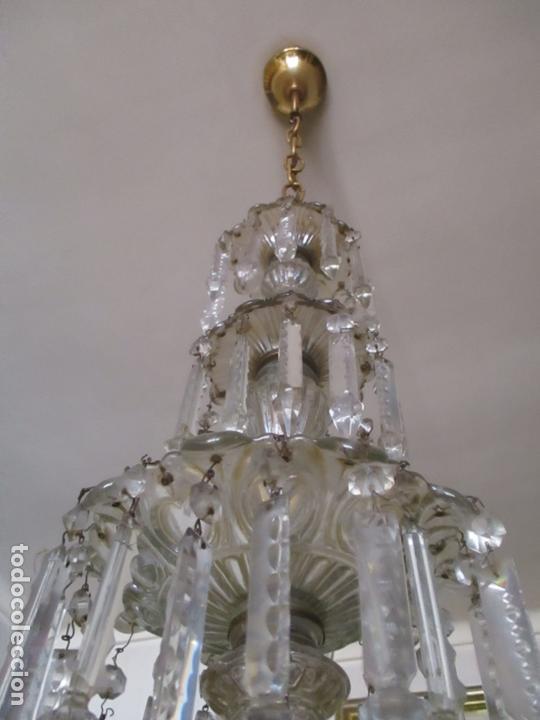Antigüedades: Impresionante Lámpara de Techo - 8 Luces - Cristal - funciona - Ideal Comedor, Salón - Foto 17 - 164574450