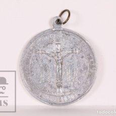Antigüedades: MEDALLA RELIGIOSA ALUMINIO - CENTENARI INDEPENDENCIA, 1808-1910 / SANTO CRISTO DE GRACIA, GRANADELLA. Lote 164576165