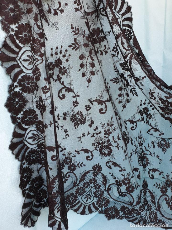 Antigüedades: Antigua Mantilla Negra 192 x 95 Cm - Foto 2 - 164578590