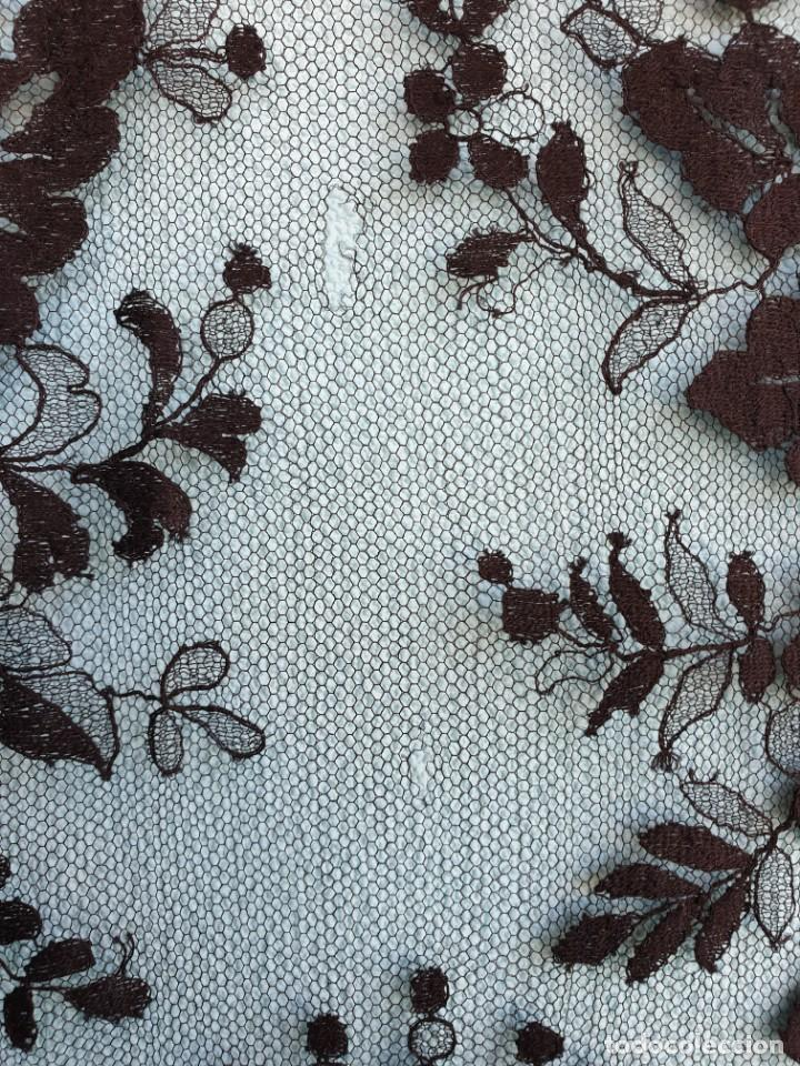 Antigüedades: Antigua Mantilla Negra 192 x 95 Cm - Foto 5 - 164578590