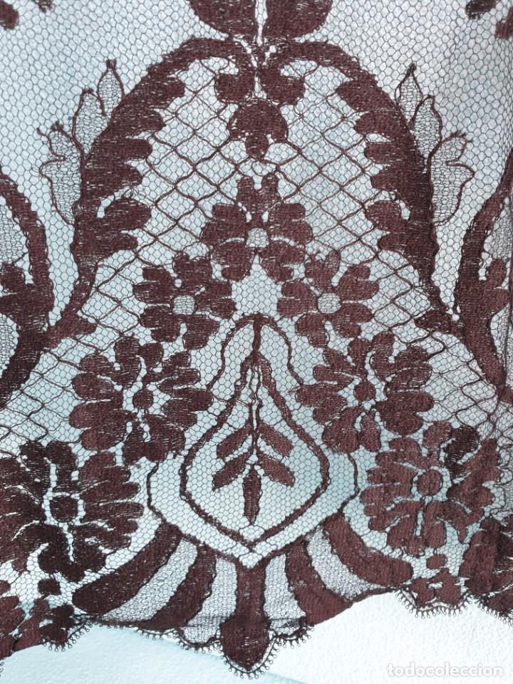 Antigüedades: Antigua Mantilla Negra 192 x 95 Cm - Foto 6 - 164578590