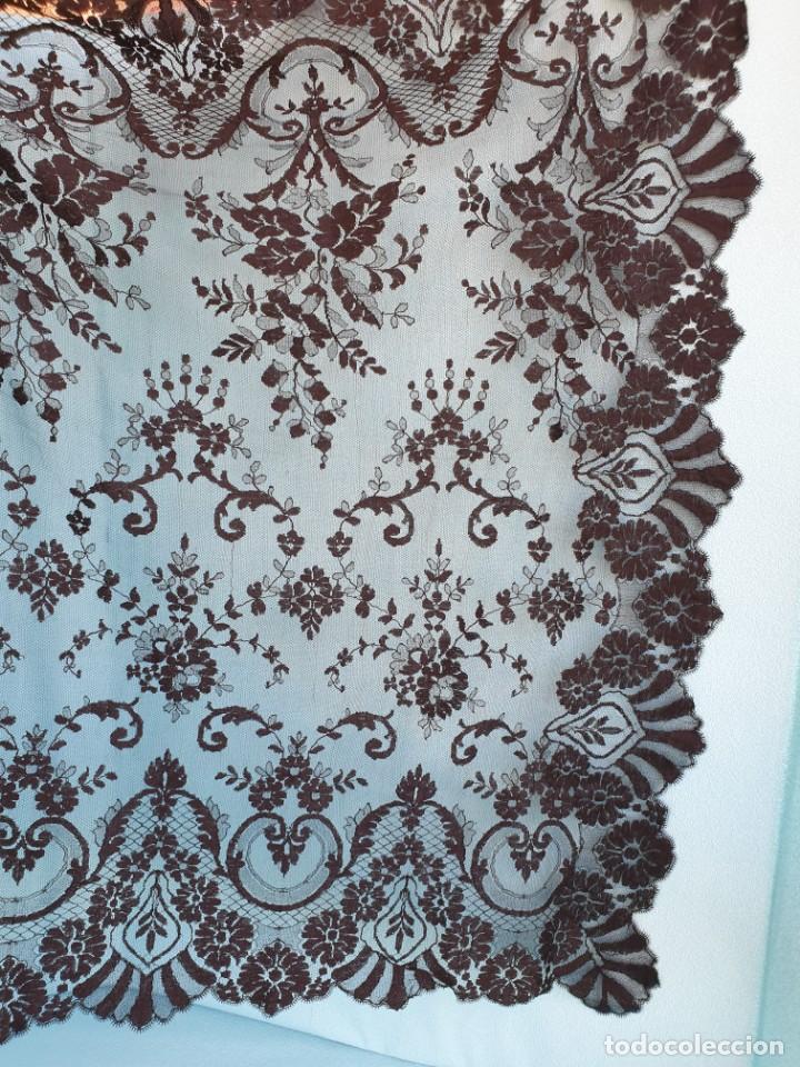 Antigüedades: Antigua Mantilla Negra 192 x 95 Cm - Foto 9 - 164578590