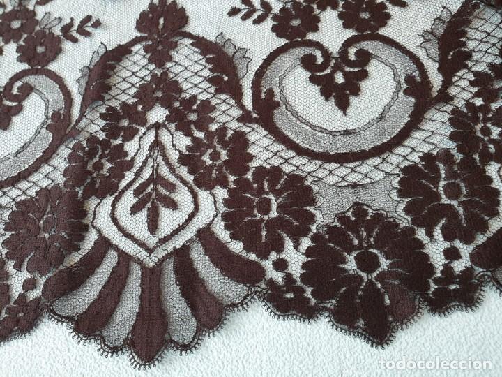 Antigüedades: Antigua Mantilla Negra 192 x 95 Cm - Foto 15 - 164578590
