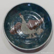 Antigüedades: PLATO DE PORCELANA PINTADO A MANO.. Lote 164600066